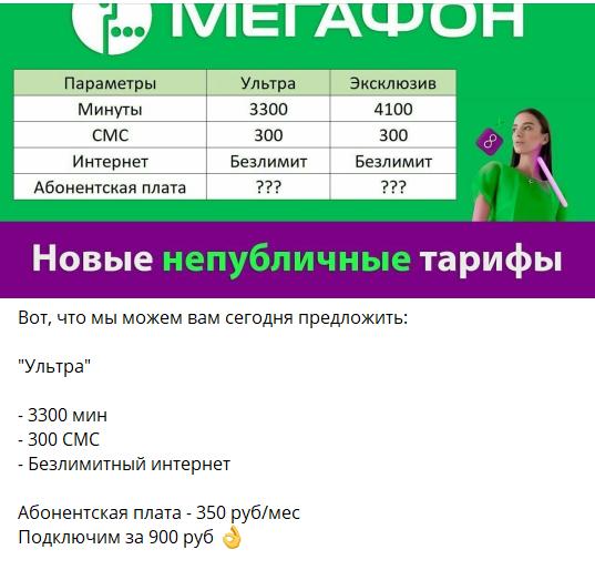 Теневой рынок сотовой связи. Пример телеграмм-канала